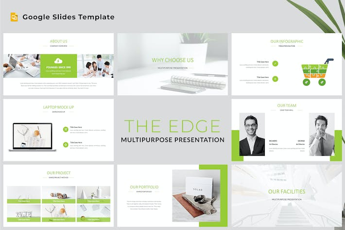 Thumbnail for The Edge - Multipurpose Google Slides Template