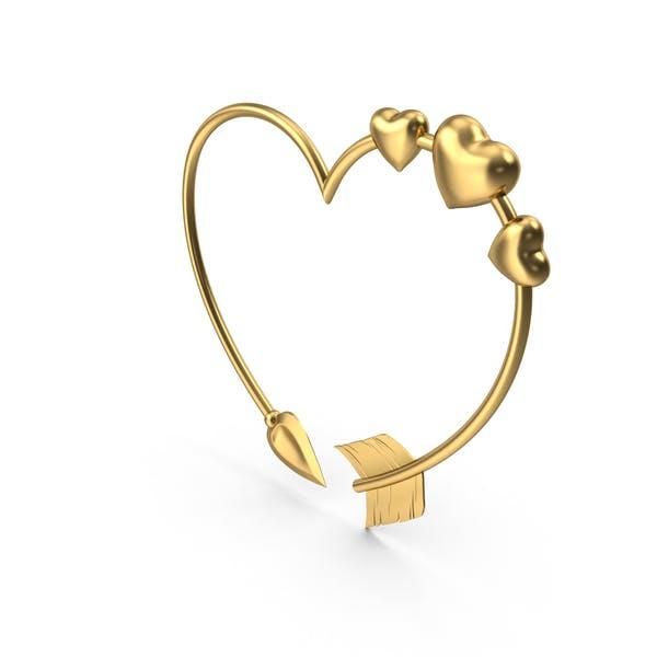 Thumbnail for Heart Shaped Golden Arrow