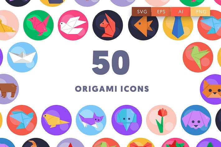 50 Origami Icons