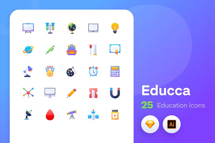 Thumbnail for Educca - Education icons Vol.2