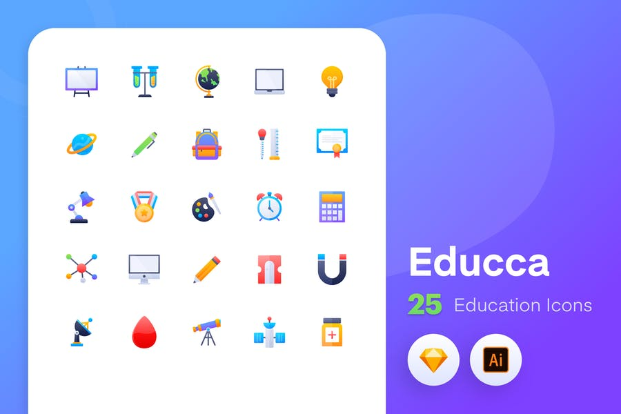 Educca - Education icons Vol.2