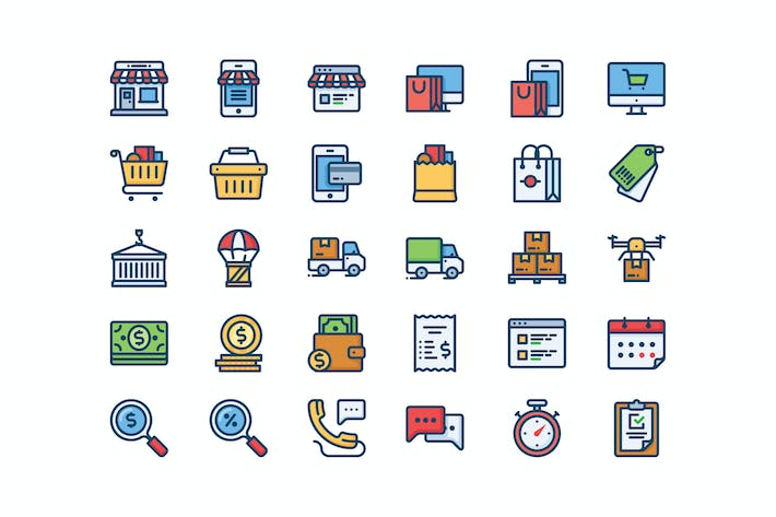 Cover Image For 30 Shop and Delivery icons