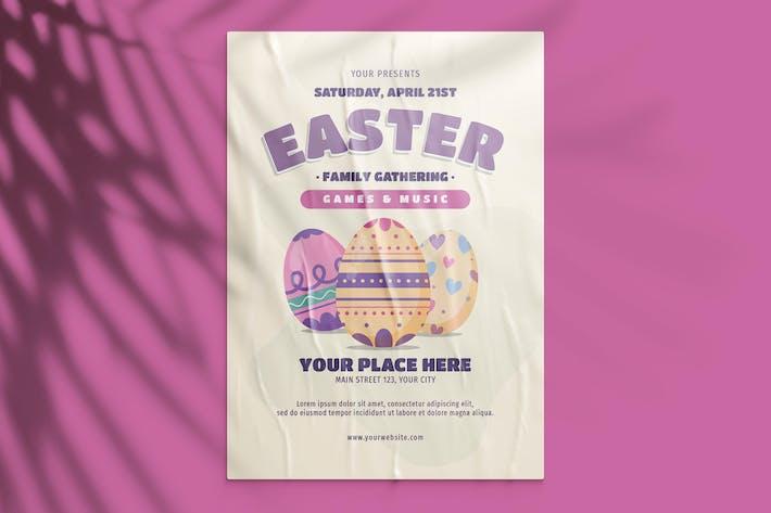 Thumbnail for dépliant pour la réunion de famille de Pâques