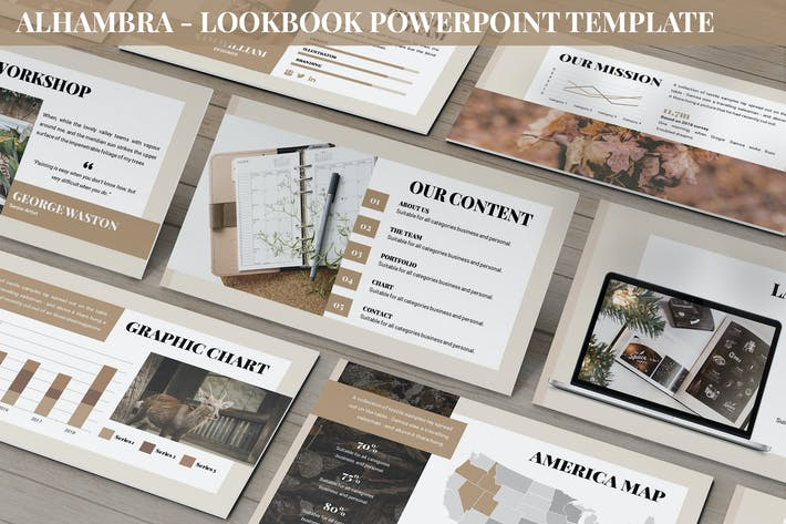 Thumbnail for Alhambra - Lookbook Powerpoint Template