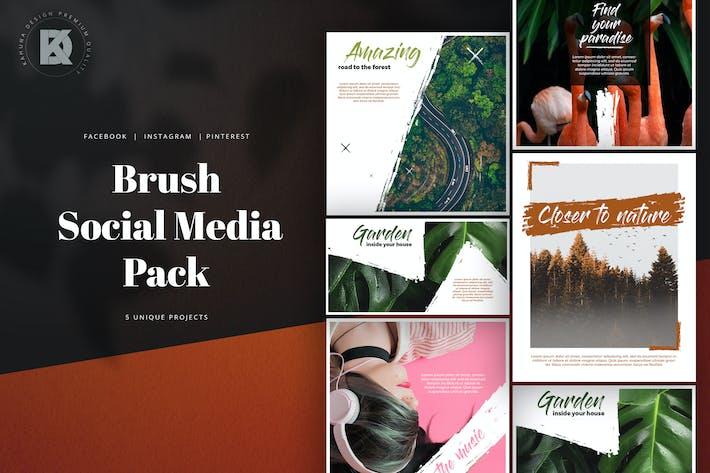 Thumbnail for Brush Social Media Pack