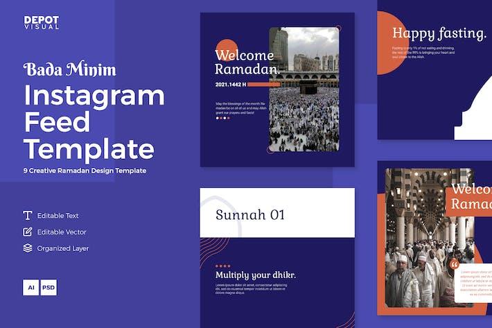 Bada Minim - Ramadan Instagram Feed Template
