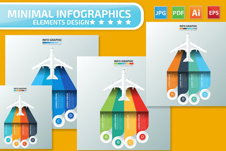 Airplane Infographics Design