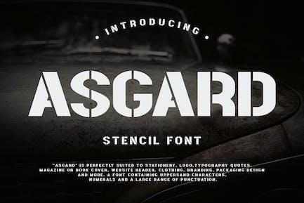 Asgard - Urban Stencil Font
