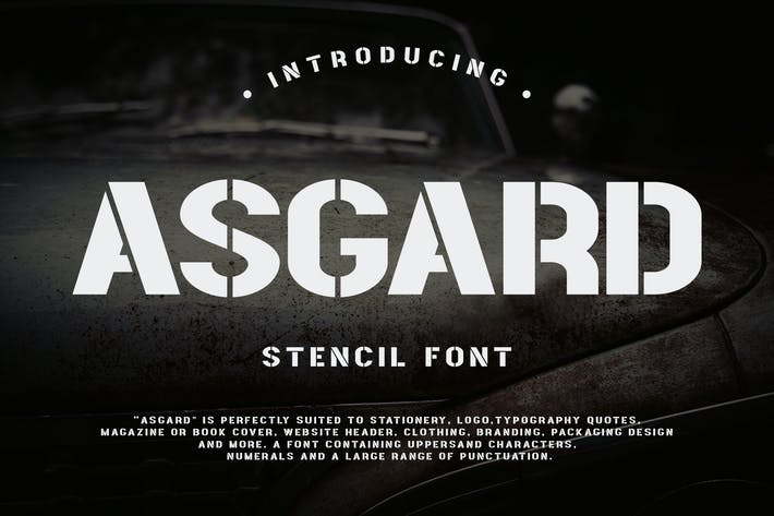 Thumbnail for Asgard - Urban Stencil Font