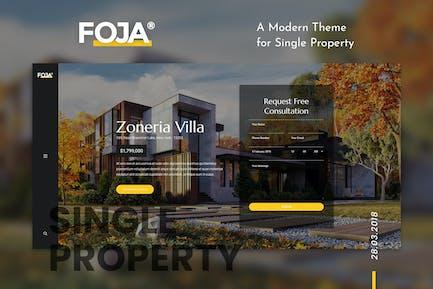 Foja   Single Property WordPress Theme