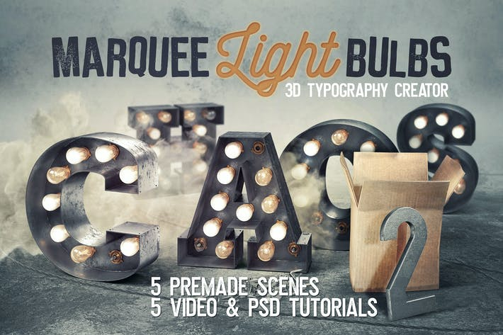 Cover Image For Marquee Light Bulbs Chaos 18 - Scenes & Tutorials