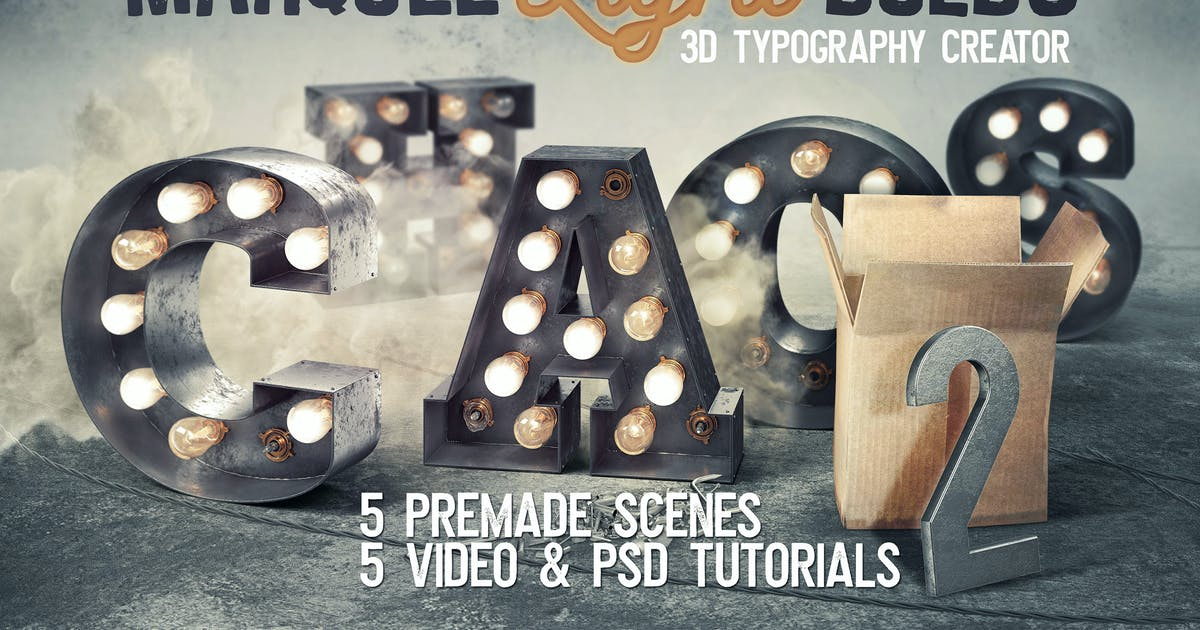 Download Marquee Light Bulbs Chaos 18 - Scenes & Tutorials by cruzine