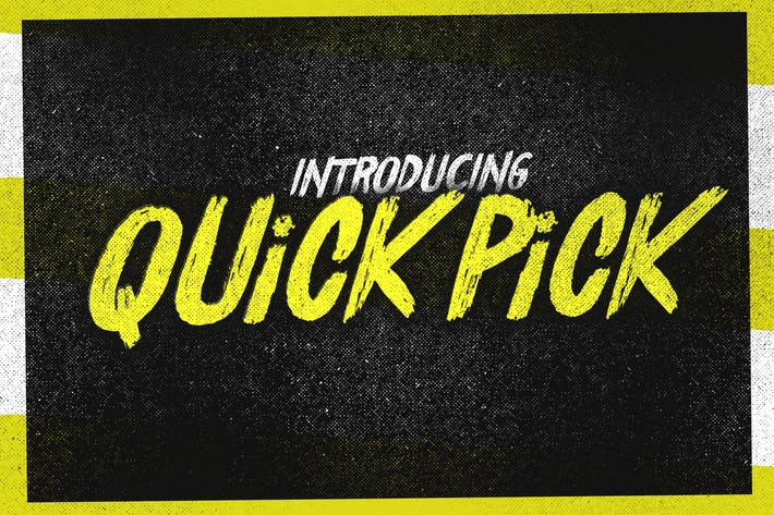 Thumbnail for Quick Pick Font
