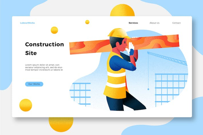 Thumbnail for Construction - Banner & Landing Page