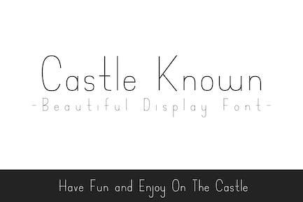 Castle Known - Font