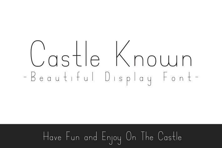 Thumbnail for Castle Known - Font