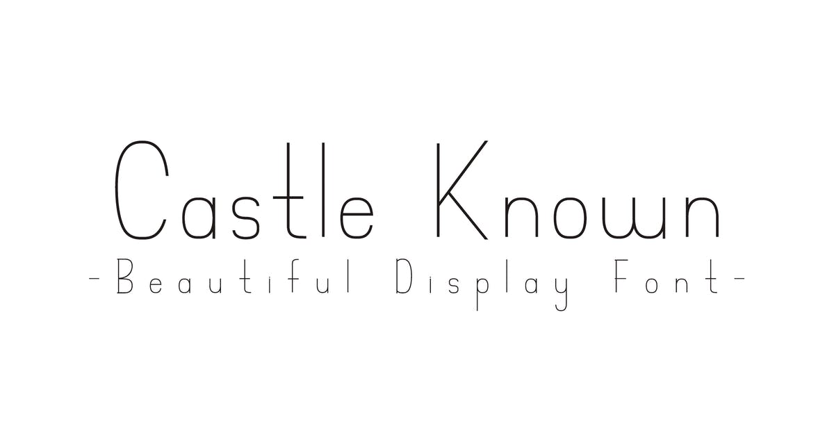 Castle Known - Font by Muse-Master