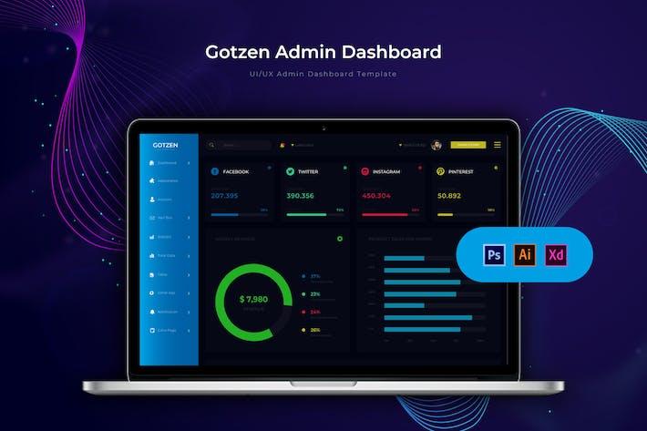 Thumbnail for Gotzen Dashboard | Admin Template