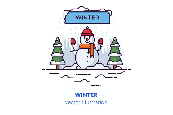 Thumbnail for Winter vector illustration