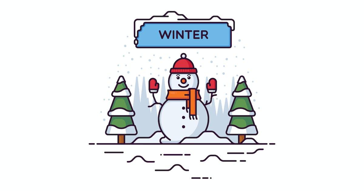 Download Winter vector illustration by mir_design