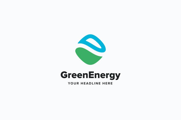 Thumbnail for Green Energy Logo Template