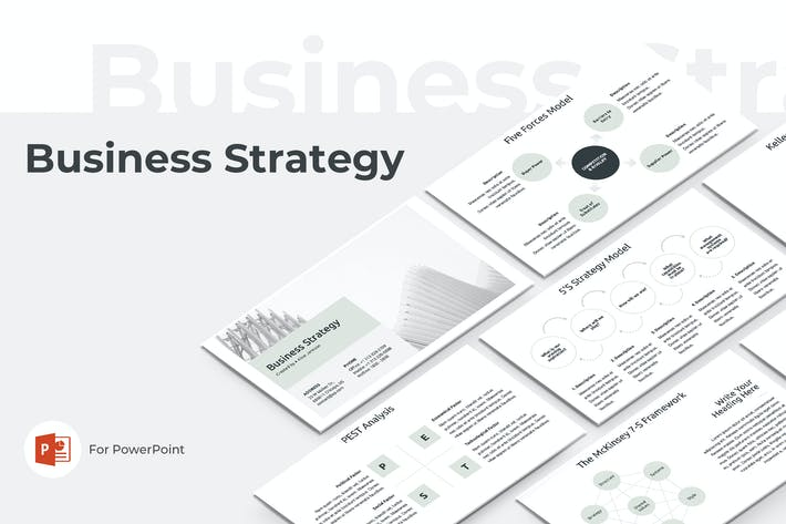 Thumbnail for Business Strategy PowerPoint Template