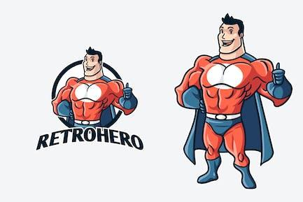 Vintage Retro Superhero Mascot Logo