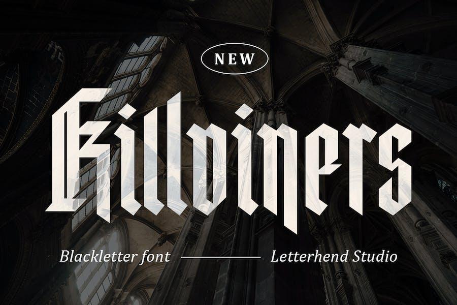 Killviners - Fuente de letra negra moderna