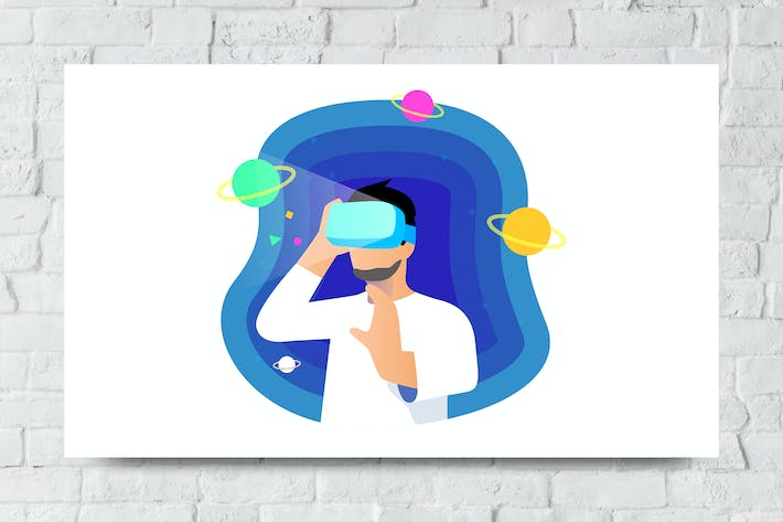 Thumbnail for Virtual Reality Vector Illustration