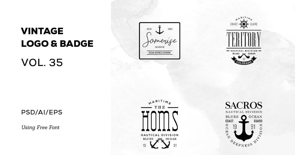 Download Vintage Logo & Badge Vol. 35 by sagesmask