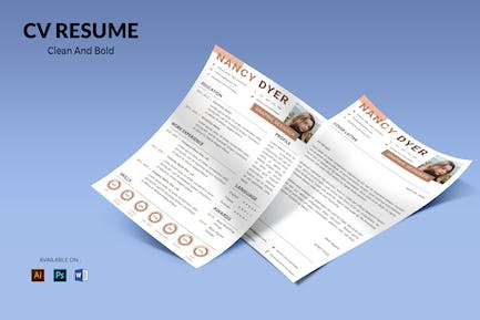 CV Resume Clean And Professional