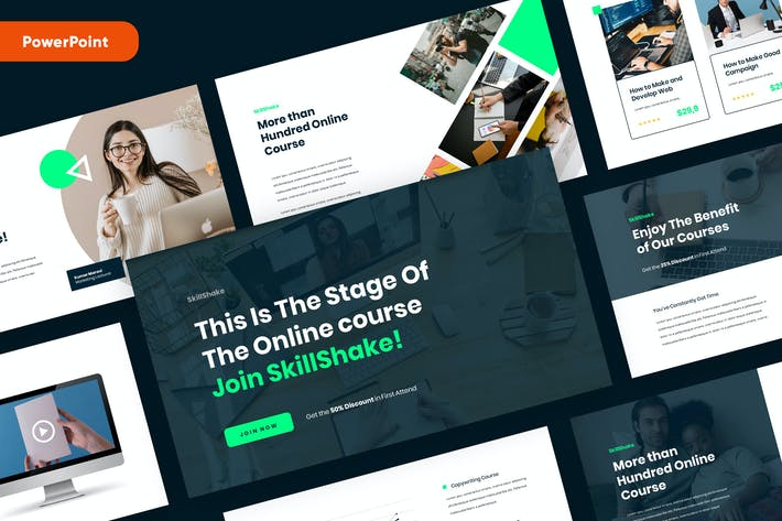 Thumbnail for SKILLSHAKE - Online Course PowerPoint Template