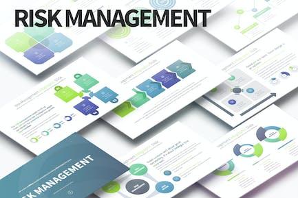 Risikomanagement - PowerPoint Infografiken Folien