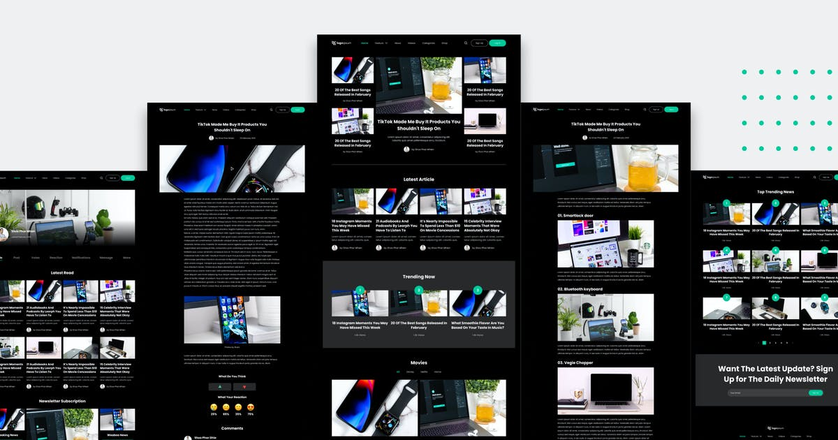 Download News and Magazine Website Template by TanahAirStudio