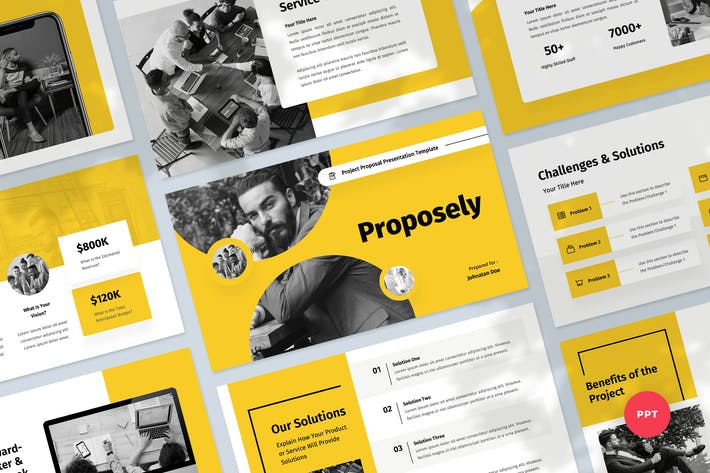 Thumbnail for Project Proposal & Pitch Powerpoint Template