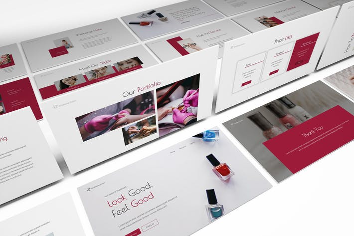 Thumbnail for Nail Salon Powerpoint Template