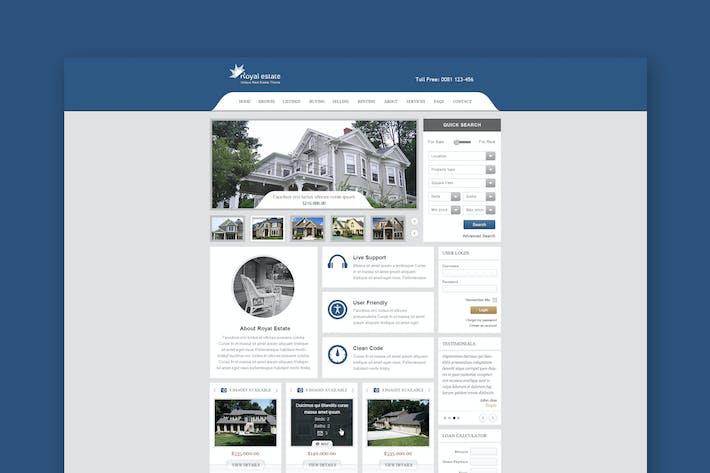 Thumbnail for Royal Estate - Tema de Bienes Raíces Premium