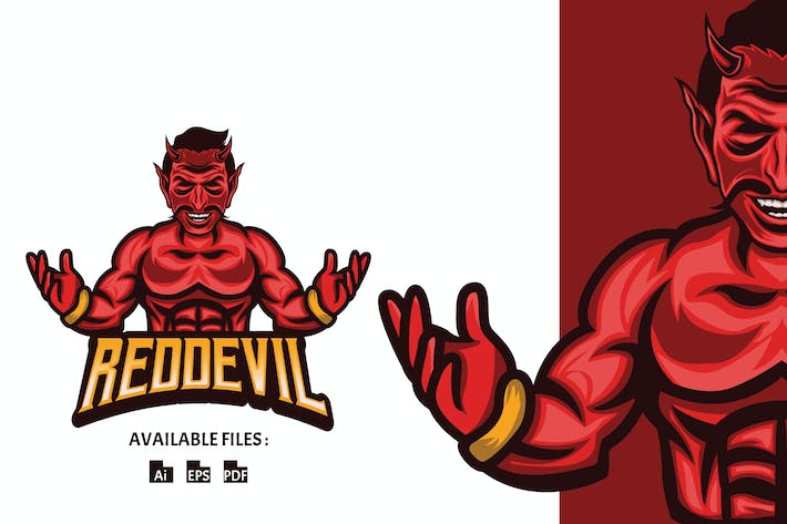 Thumbnail for Red Devil Sport and Esport Logo