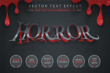 Paper Blood - Editable Text Effect, Font Style