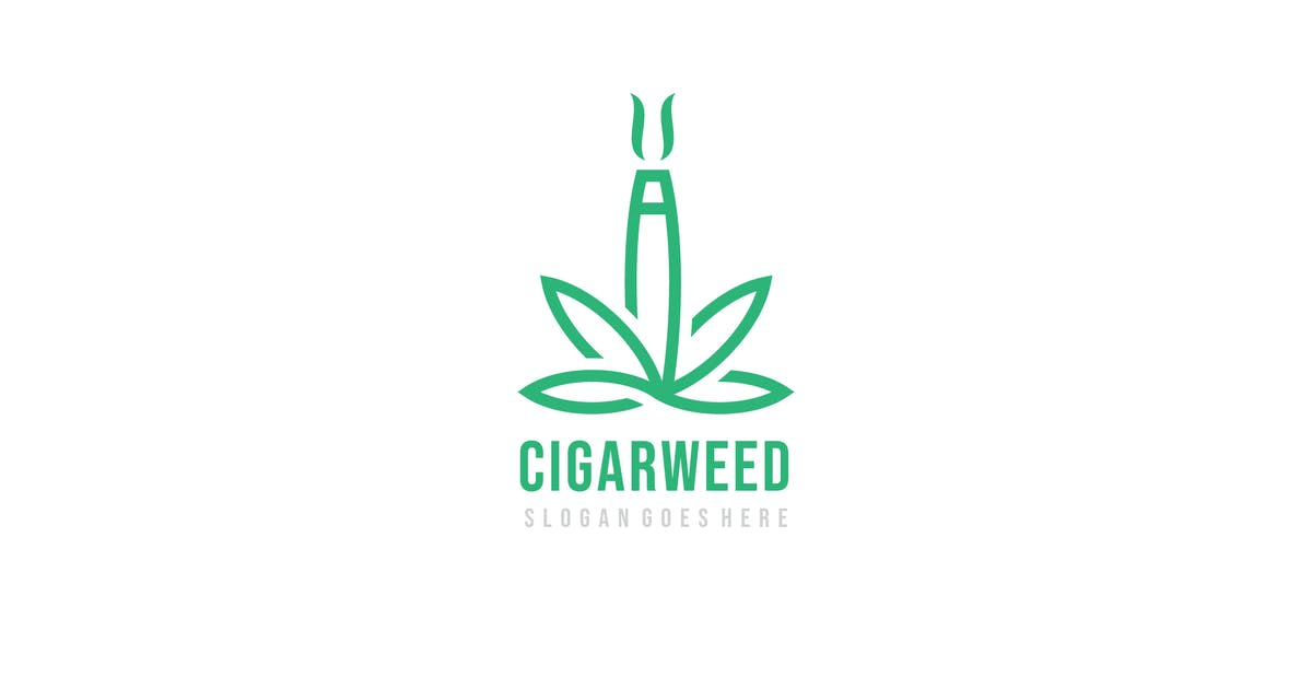 Download Weed Cigarette Logo by 3ab2ou