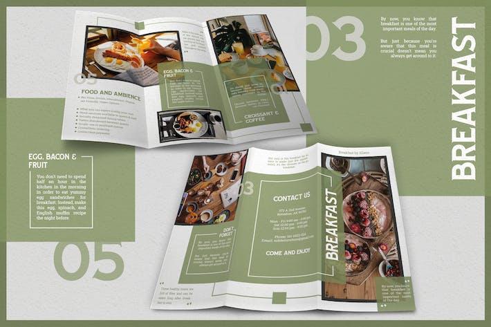 Elegant Brush Breakfast Menu - Brochure
