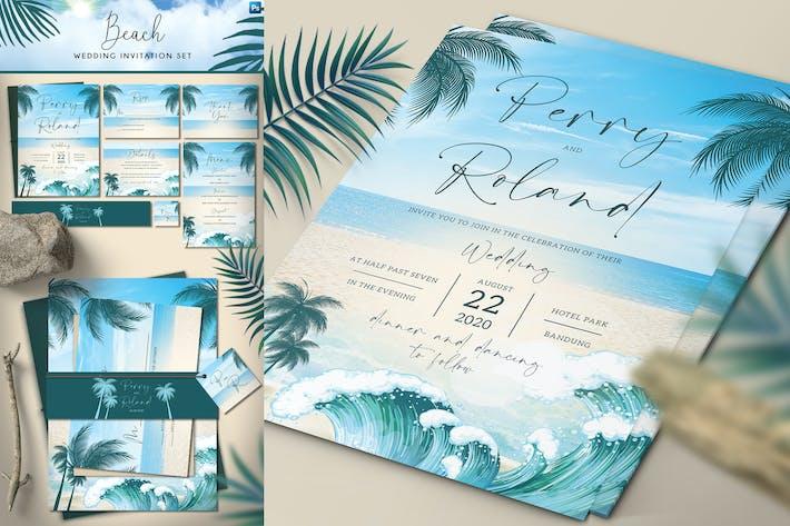 Thumbnail for Hochzeitseinladungen zum Strand