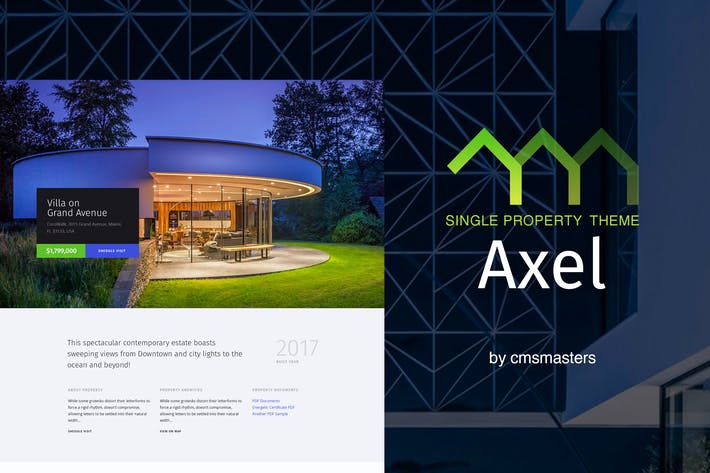 Thumbnail for Axel - Single Property Real Estate Theme