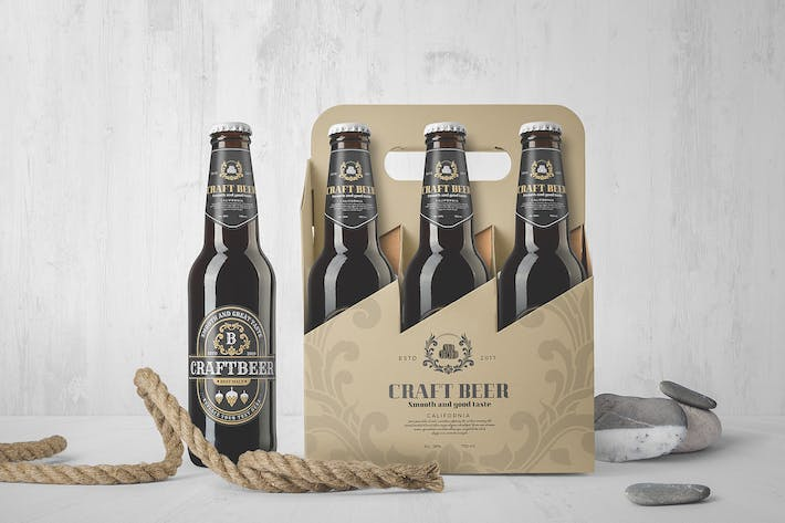 Thumbnail for Beer Bottles Mockup