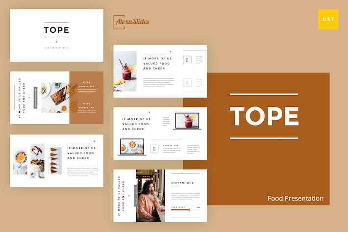 Thumbnail for Tope - Food Google Slides Template
