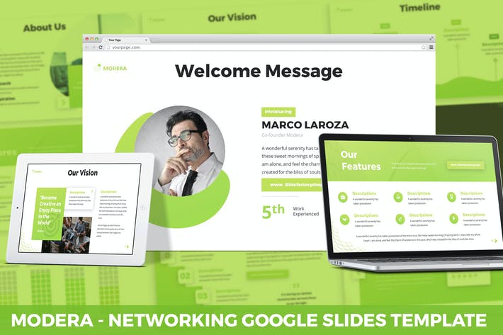 Thumbnail for Modera - Networking Google Slides Template