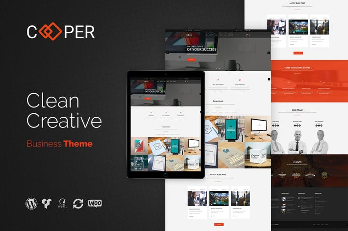 Thumbnail for Cooper - Clean Creative Business WordPress Thema