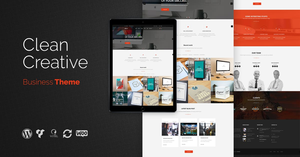 Download Cooper - Clean Creative Business WordPress Theme by themeton