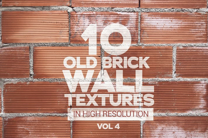 Thumbnail for Old Brick Wall Textures x10 Vol.4