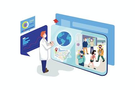 Seguimiento de sospechosos de virus Corona - concepto COVID19